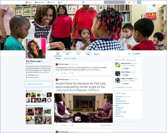 nouveau design profils twitter