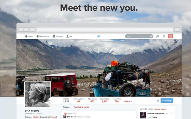 nouveau profil twitter déployé
