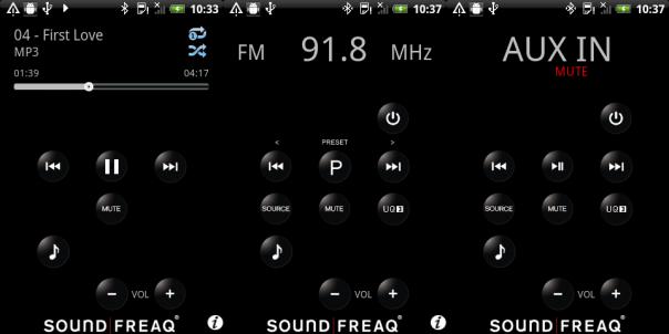 Soundfreaq Sound Platform Ghost : Application mobile