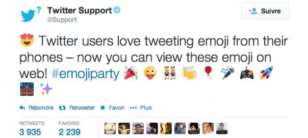 Twitter : Emoticônes désormais visibles sur le site officiel
