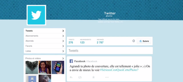 Twitter : Nouveau design