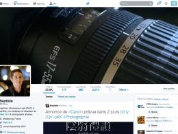 Twitter : Nouveau profil utilisateur
