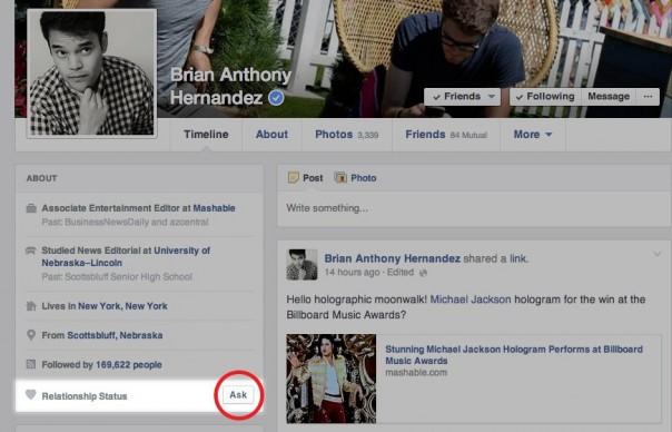 Facebook : Bouton demander