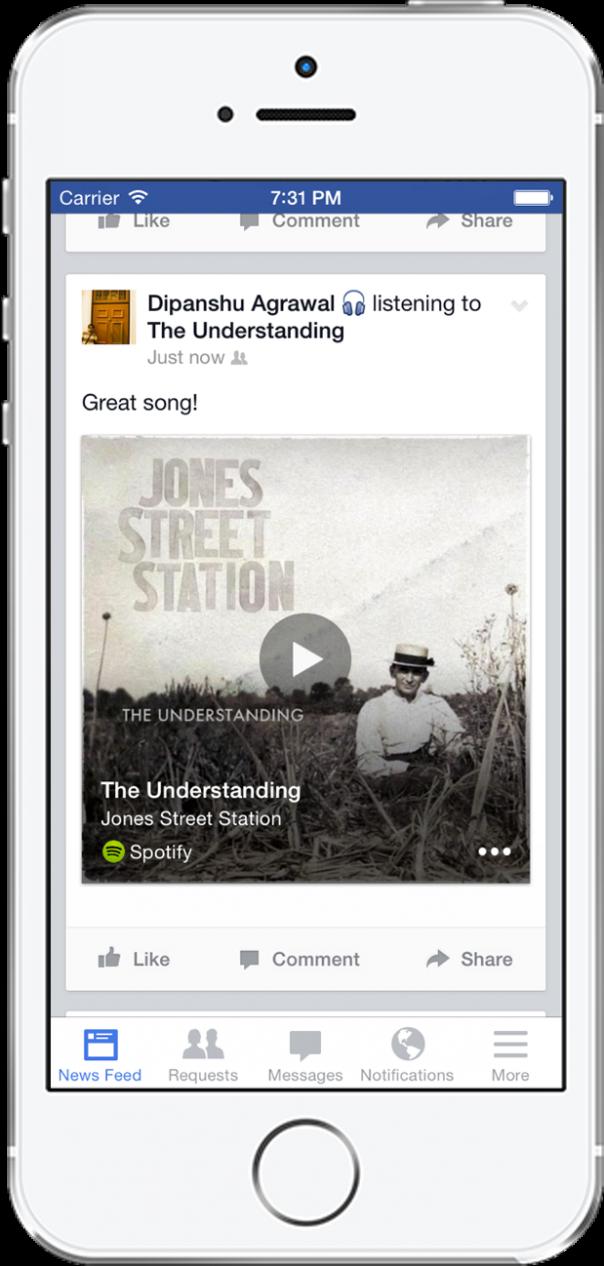 Facebook : Identification de musique et vidéo à la Shazam - Statut