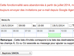 Gmail : Invitation Google Agenda