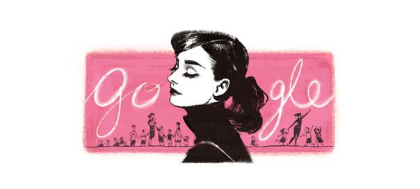 Google : Audrey Hepburn, l'actrice en doodle