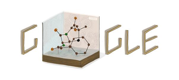 Google : Dorothy Hodgkin et l'insuline en doodle