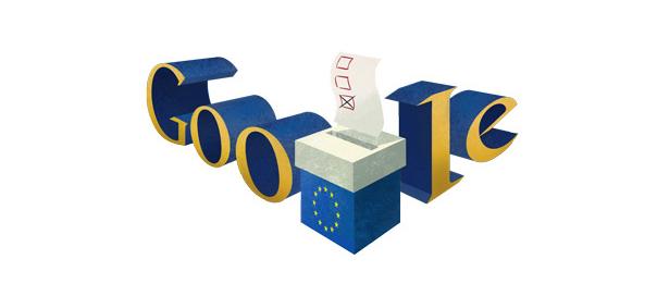 Google : Les Élections européennes 2014 en doodle