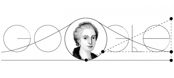 Google : Maria Gaetana Agnesi, la mathématicienne en doodle