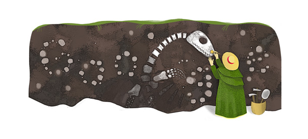 Google : Doodle Mary Anning - Fossiles