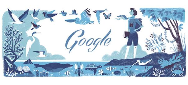 Google : Doodle Rachel Louise Carson & le Printemps silencieux
