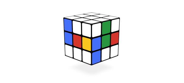 Google : Rubik's Cube, le jeu casse-tête en doodle