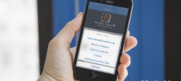 Twitter : Test du bouton «Mute»