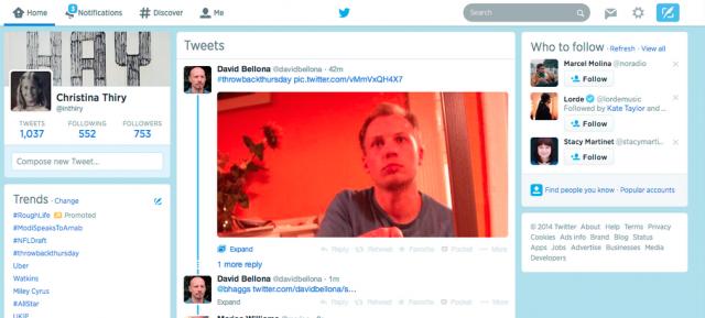 Twitter : 3 colonnes