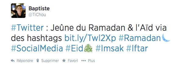Twitter : Hashtags Ramadan & Aïd