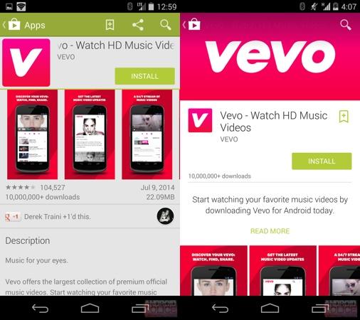 Google Play design smartphone