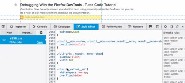 Firefox : Identification des noeuds du DOM matchant un sélecteur CSS