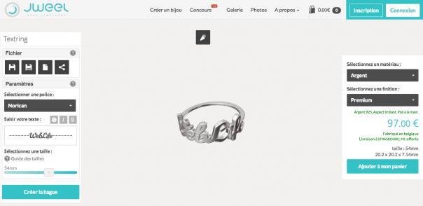 Jweel : Outil création de bijou par impression 3D