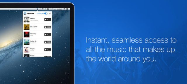 Shazam sur OS X