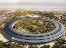 Apple : Le futur campus circulaire vu du ciel