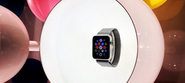 L'Apple Watch dans la vitrine de Colette à Paris aujourd'hui