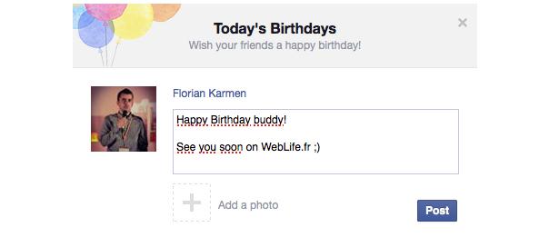 Facebook : Des ballons pour les anniversaires de ses amis