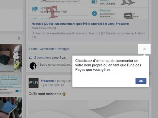 Facebook : Attribution des like et commentaires