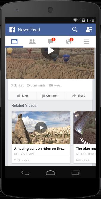 Facebook : Vidéos similaires