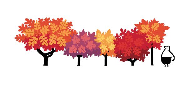 Google : Doodle Equinoxe d'automne avec feuilles