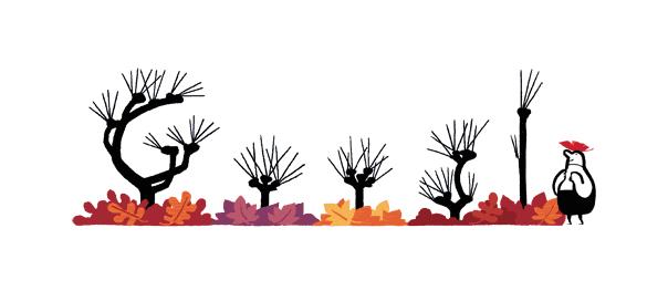 Google : Doodle Equinoxe d'automne sans feuille