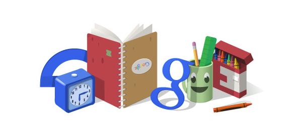 Google : La rentrée des classes 2014 en doodle