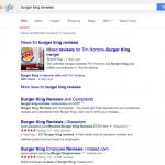 Google : Etoiles rouges - Notation