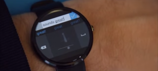 Android Wear : Analog Keyboard