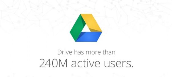 Google Drive : 240 millions d'usagers actifs