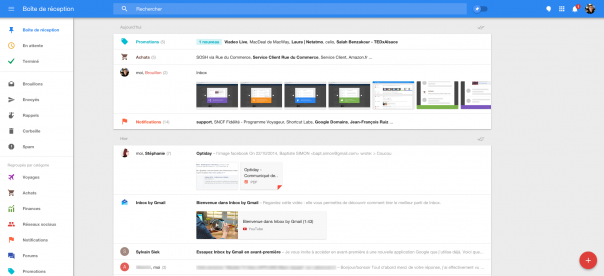 Google Inbox : Application web