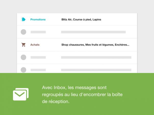 Google Inbox : Catégories