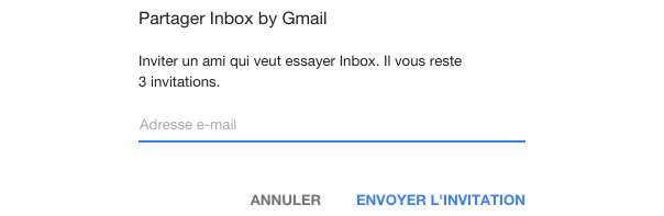 Google Inbox by Gmail : Invitations