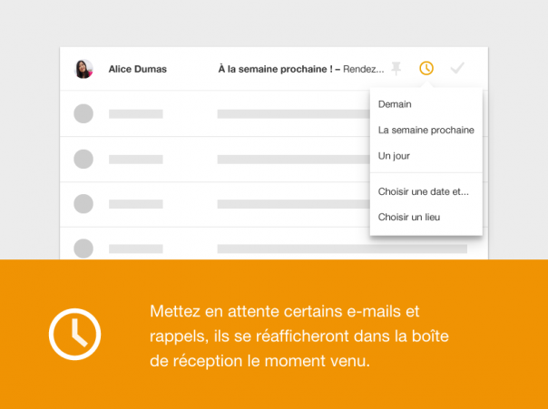 Google Inbox : Mise en attente