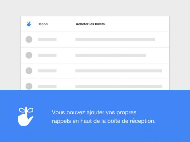 Google Inbox : Rappel de tâche