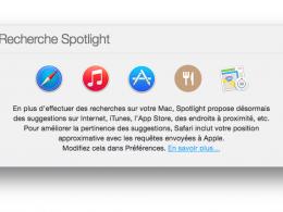 OS X Yosemite & Spotlight