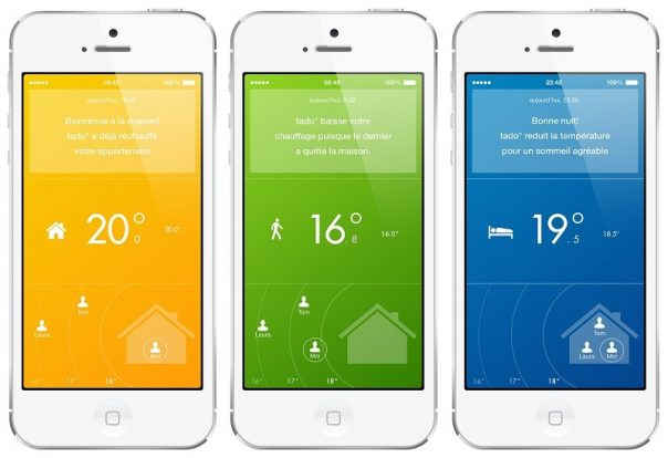 Tado : Thermostat connecté - Application mobile