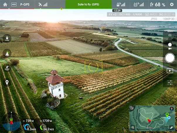 Application DJI Inspire 1
