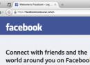 Facebook : Connecté au réseau Tor via un .onion