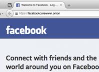 Facebook & Tor