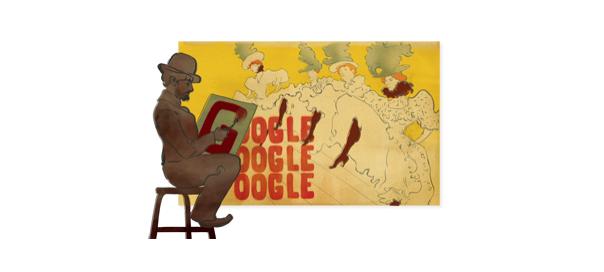 Google : Henri de Toulouse Lautrec en doodle