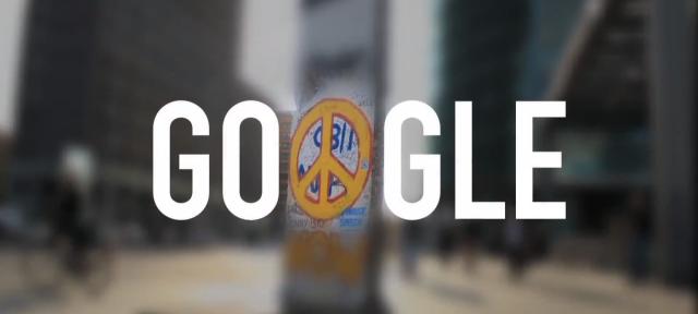 Google : Doodle chute du mur de Berlin
