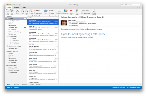 Outlook : OS X