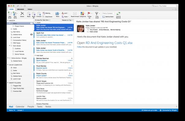 Outlook : OS X