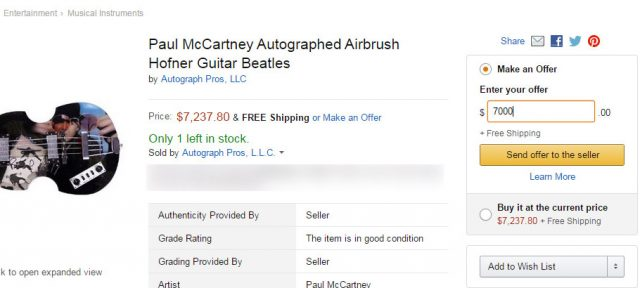 Amazon : Make an Offer