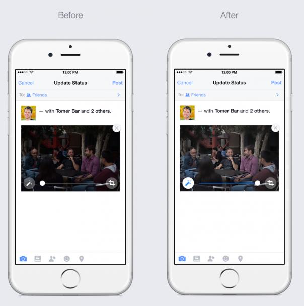 Facebook : Amélioration automatique des photos